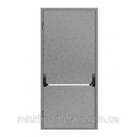 Противопожарная дверь антипаника 2100х900 мм Міськбудметал ДМП 21-9 EI60 А