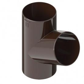 Трійник INES 67° 80х80 мм коричневий