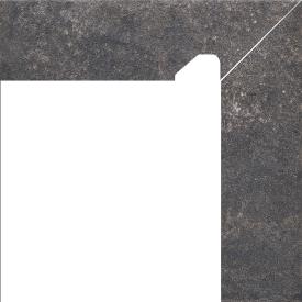 Клинкерный цоколь Paradyz Viano antracite prawy 8,1x30 см
