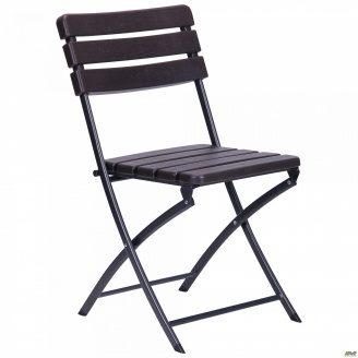 Металевий стілець АМФ Даймлер YC-043 складаний 820х460х560 мм пластик Wooden Brown