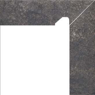 Клінкерна цоколь Paradyz Viano antracite prawy 8,1x30 см