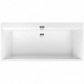 SQUARO EDGE 12 ванна 180x80 см с ножками и сливом-переливом white alpin