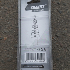 Свердло ступеневе 4-20 мм Granite