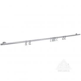 Рейлинг кухонный Laris 20 1000 мм с крючками