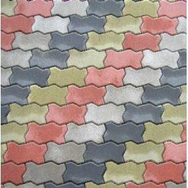 Тротуарная плитка Фалка костка цветная 8 см
