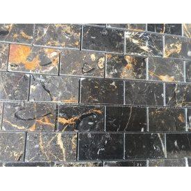 Мозаїка з мармуру Чорний з золотом 1.5х30х30 см