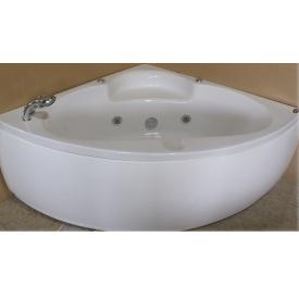 Ванна угловая с гидромассажем и пневмокнопкой 1400x1400x620 мм со смесителем