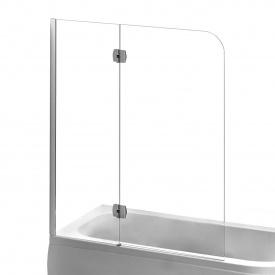 Шторка на ванну 120x150 см левая профиль хром