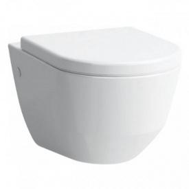Комплект PRO Rimless унитаз подвесной 36x53 см + сиденье для унитаза с системой плавного опускания с антибактериальным покрытием