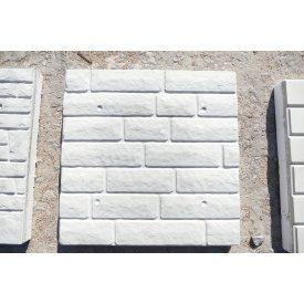 Фасадная термопанель Полифасад Колотый камень 60х500х500 мм белая