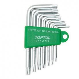 Набір ключів TORX Р-обр TOPTUL T 10-T 40 7 од GAAL 0705