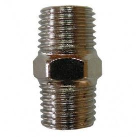 Соединитель резьбовой с наружной резьбой 1/4x1/4 AIRKRAFT SMM04-04