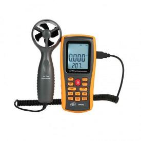Анемометр-термометр USB 0,3-45м/с 0-45°C BENETECH GM8902