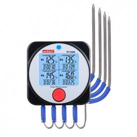 Термометр харчової електронний 4-х канальний Bluetooth -40-300 градусів Цельсія WINTACT WT 308 B