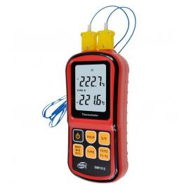 Термометр цифровий двоканальний -250-1767 градусів Цельсія BENETECH GM1312