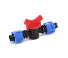 Кран кульовий прохідний Presto-PS для краплинної стрічки 16 мм (LV-0117)