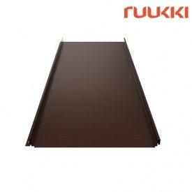 Фальцевая кровля Ruukki Classic C Polyester RM Лесной орех (RR32)