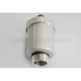 """Нікельований автоматичний клапан випуску повітря Tiemme 3/4"""" різьба зовнішня (1980013)"""
