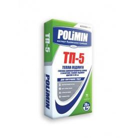 Гіпсова самовирывнююча суміш з ефектом теплої підлоги Полімін ТП-5 Тепла підлога