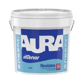 Износостойкая глубокоматовая интерьерная краска Aura Neolatex 2,5 л