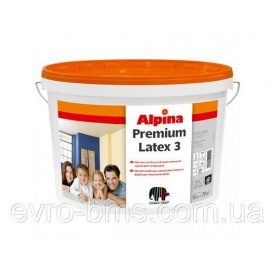 Краска матовая латексная ALPINA Premiumlatex 3 E.L.F. B3 9,4 л