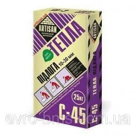 Выравнивающий раствор Artisan С-45 теплый пол 20 кг
