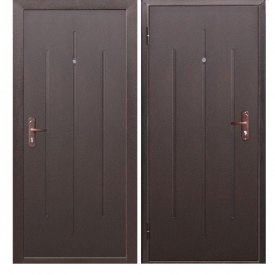 Двери входные СтройГОСТ 7-2 минвата металл/металл
