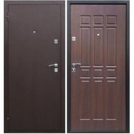Двери входные Сопрано Дуб Шоколадный металл/мдф