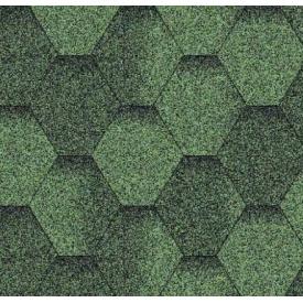 Битумная черепица Аква Изол Мозаика Зеленая ЭКО 1 п-3 м2