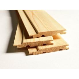Вагонка дерев'яна СОСНА 16 мм 7,5 см 1 шт 0,225 м2 3 м