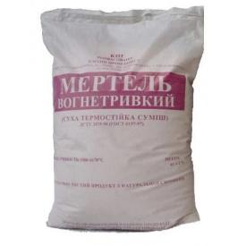Розчин вогнетривкий Мертель МШ-28 1600 С 25 кг