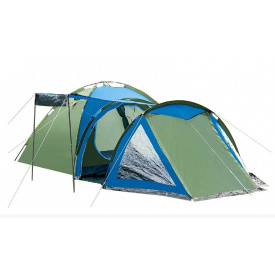 Палатка 4-х местная Presto Acamper SOLITER 4 PRO зелено-синий 3500 мм