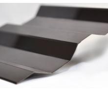Профилированный монолитный поликарбонат Borrex 0.8 мм 105х200 см бронза