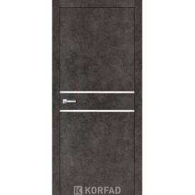 Межкомнатные двери Korfad ALUMINIUM LOFT PLATO 800х2000мм бетон лофт