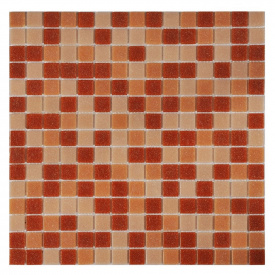 Мозаика стеклянная Stella di Mare R-MOS A878582 микс розовый на сетке 327х327х4 мм