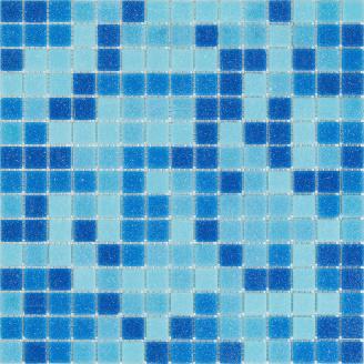 Мозаїка скляна Stella di Mare R-MOS B31323335 мікс 4 на сітці 327x327x4 мм