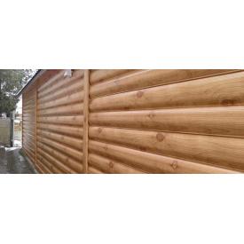 Металлический блок-хаус под бревно 0,4 мм 345/370 мм Золотой дуб