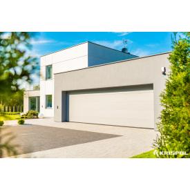 Гаражные секционные ворота KRISPOL гладкая широкая панель без тиснения 2750х2750 мм белые (RAL 9016)