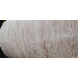 Металлический сайдинг Блок хаус Бревно DZHUN steel 345/370 мм Белое дерево структурное