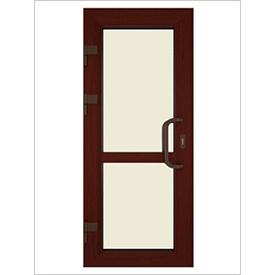 Двері вхідні ламіновані ПВХ 900х2100 мм Темна Вишня