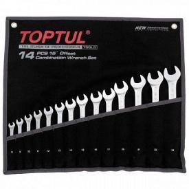 Набор комбинированных ключей 8-24 мм TOPTUL 14 шт Hi-Performance GPAX1402