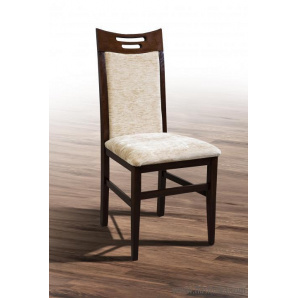Дерев'яний обідній стілець з масиву дерева з м'якою сидушкою спинкою Юля ГОРІХ