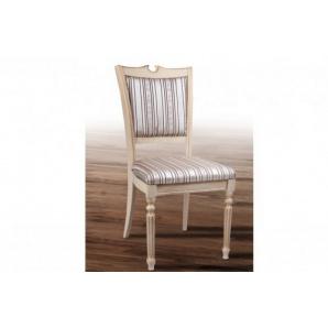 Обідній класичний стілець з масиву ясена Сицилія Люкс слонова кістка/горіх
