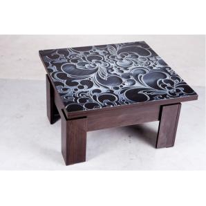 Журнальний стіл трансформер Дельта ДСП ламіноване скло