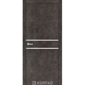Міжкімнатні двері Korfad ALUMINIUM LOFT PLATO 800х2000мм бетон лофт