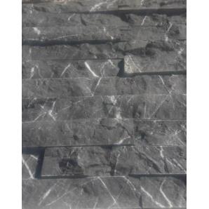 Декоративна плитка натуральний камінь мармур сірий 2х5х30 см