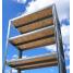 Стелаж металевий 700х300 мм полиці МДФ
