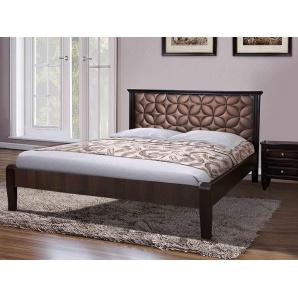 Двоспальне ліжко Рубін з масиву клена з м'яким узголів'ям 1600x2000