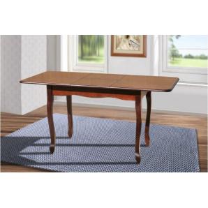 Кухонний розсувний стіл Лідер з масиву бука темний горіх молочний 110/40х70 см