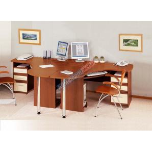 Письмовий компьюторный кутовий стіл Готовий комплект СК3727 1430 мм